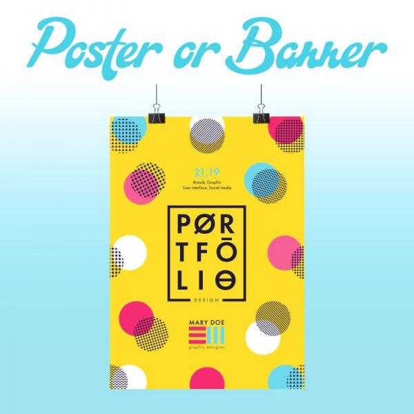Poster or Banner Design - Online Design Club