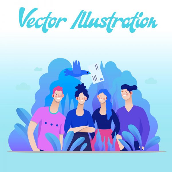 Custom graphic Illustration Design Services | Online Design Club